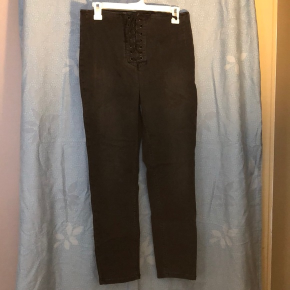 Free People Pants - Free People high waisted black skinny jeans
